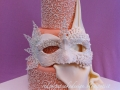 VENICIAN MASK- ROSE by Red Carpet Cake Design
